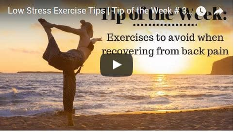 Chiropractic Seattle WA Tip of the Week - Low Stress Exercises