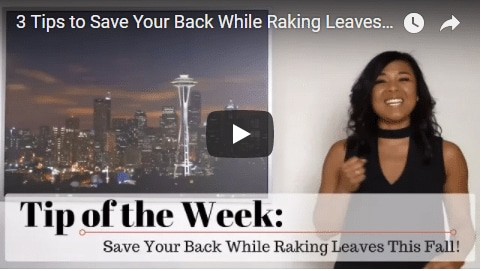 Chiropractic Seattle WA Tip of the Week - Raking Leaves