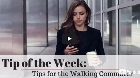Chiropractic Seattle WA Tip of the Week - Tips for the Walking Commuter