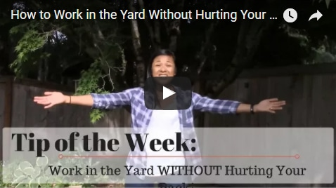Chiropractic Seattle WA Tip of the Week - Yard Work