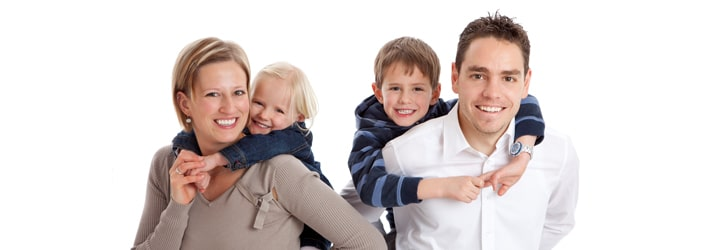 Happy Family Cared for by Chiropractic Team at Emerald City Spinal Care in Seattle WA